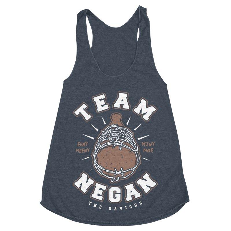 Team Negan Women's Racerback Triblend Tank by Olipop Art & Design Shop
