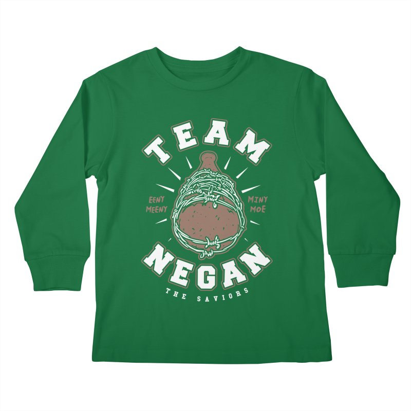 Team Negan Kids Longsleeve T-Shirt by Olipop Art & Design Shop