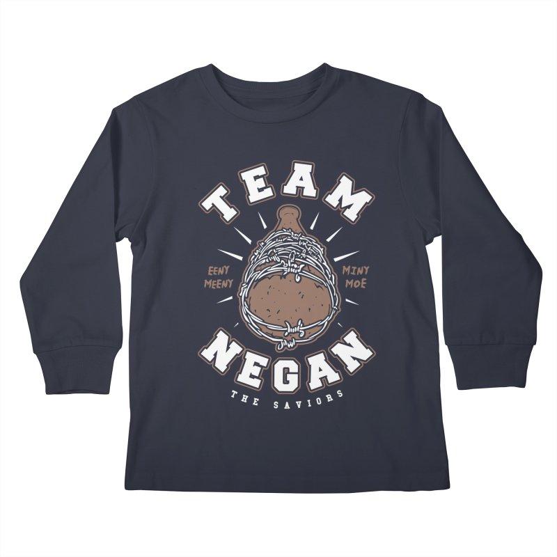 Team Negan Kids Longsleeve T-Shirt by Olipop Art & Design Shop