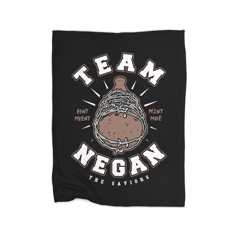 Team Negan Home Fleece Blanket Blanket by Olipop Art & Design Shop