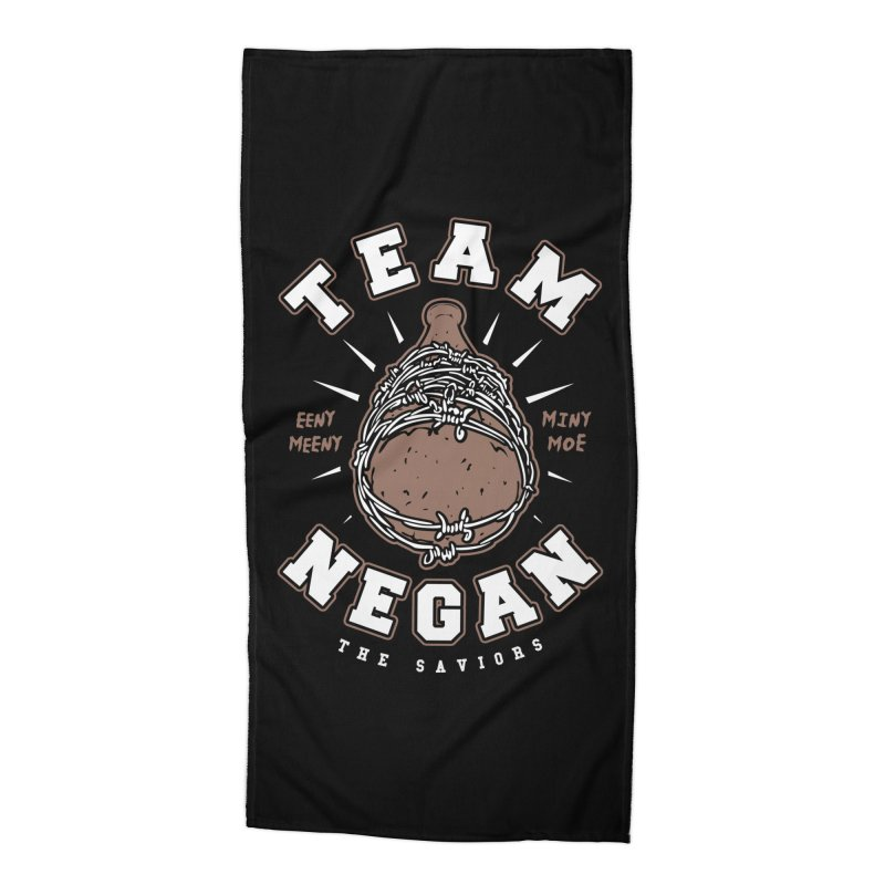 Team Negan Accessories Beach Towel by Olipop Art & Design Shop