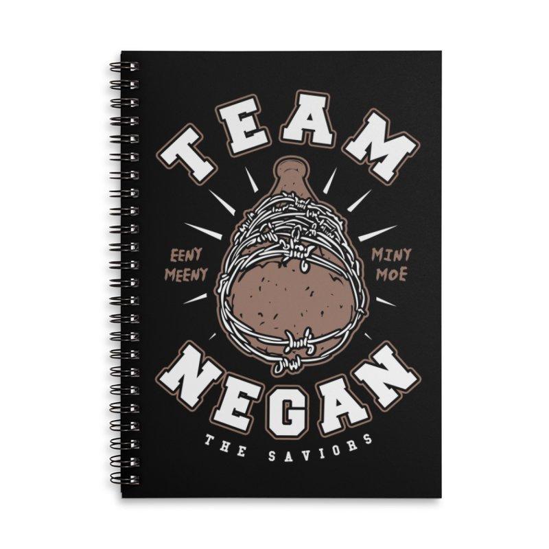 Team Negan Accessories Lined Spiral Notebook by Olipop Art & Design Shop