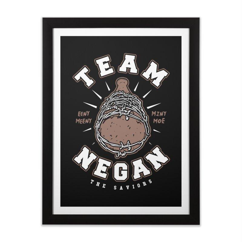 Team Negan Home Framed Fine Art Print by Olipop Art & Design Shop