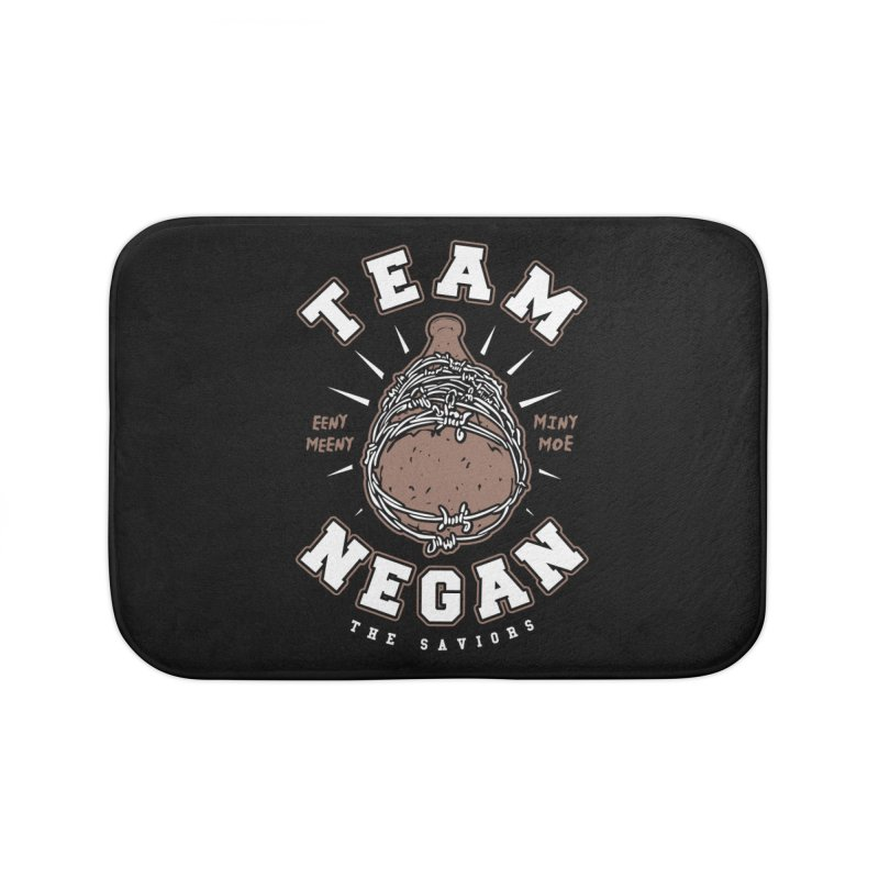 Team Negan Home Bath Mat by Olipop Art & Design Shop