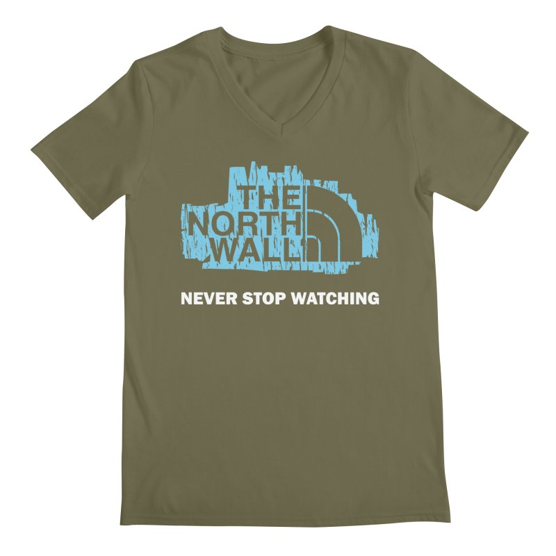 The North Wall Men's V-Neck by Olipop Art & Design Shop