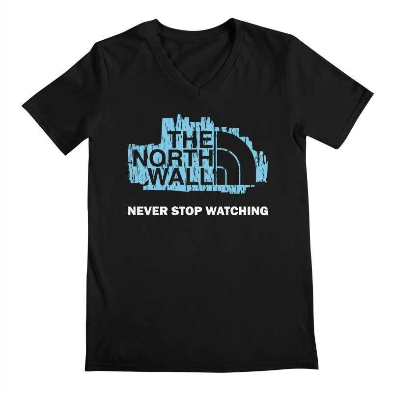 The North Wall Men's Regular V-Neck by Olipop Art & Design Shop