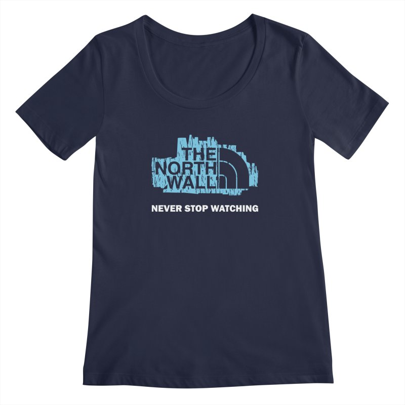 The North Wall Women's Regular Scoop Neck by Olipop Art & Design Shop