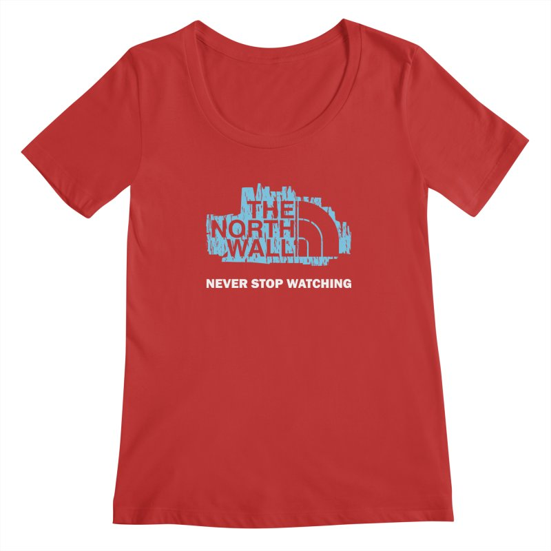 The North Wall Women's Regular Scoop Neck by Olipop Art & Design Shop