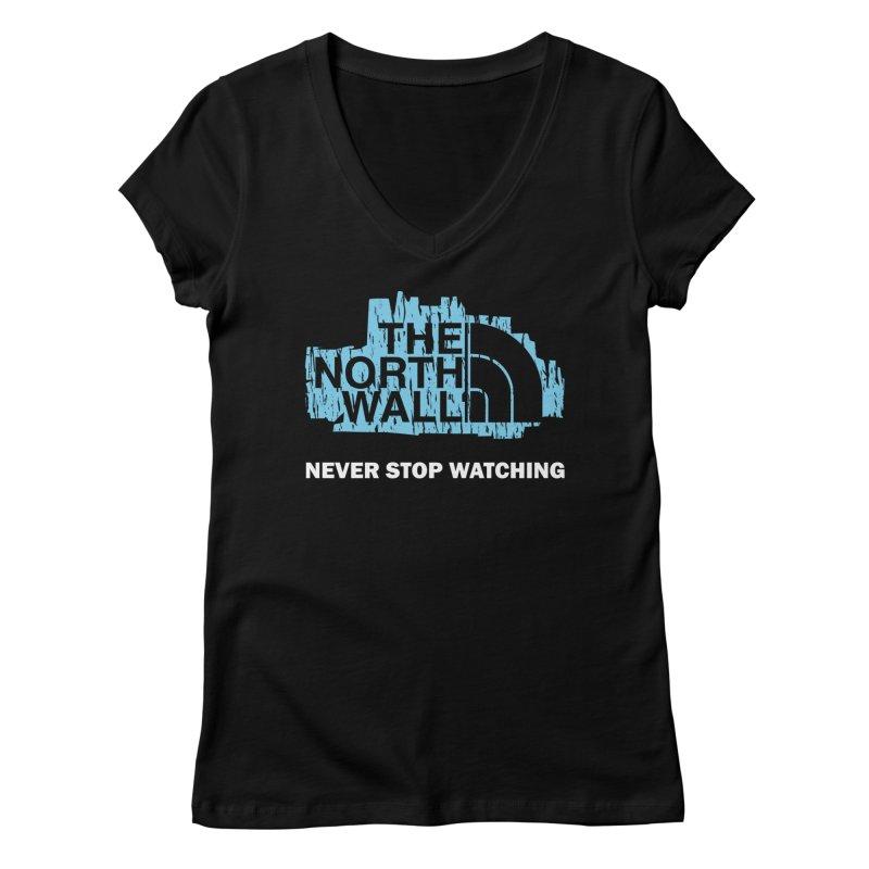 The North Wall Women's Regular V-Neck by Olipop Art & Design Shop