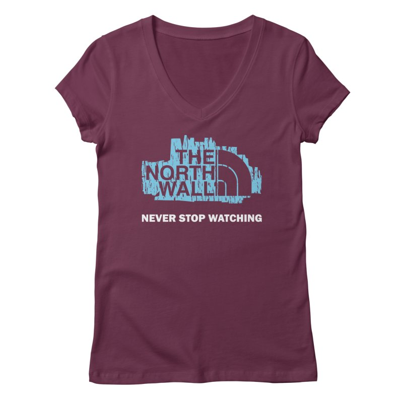 The North Wall Women's V-Neck by Olipop Art & Design Shop