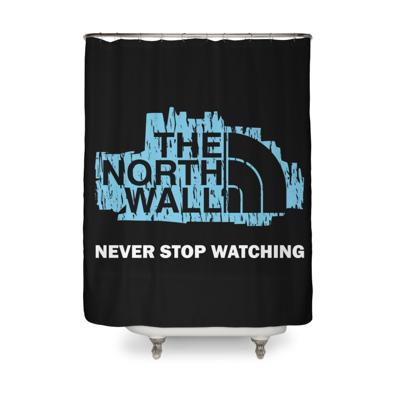 The North Wall Home Shower Curtain by Olipop Art & Design Shop