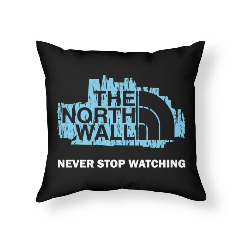 The North Wall Home Throw Pillow by Olipop Art & Design Shop