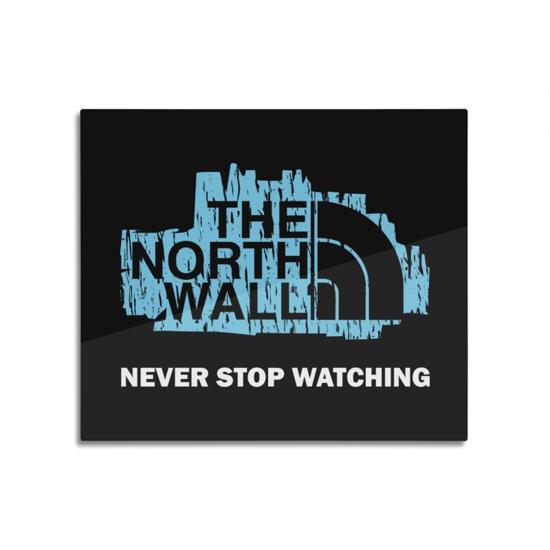 The North Wall Home Mounted Aluminum Print by Olipop Art & Design Shop