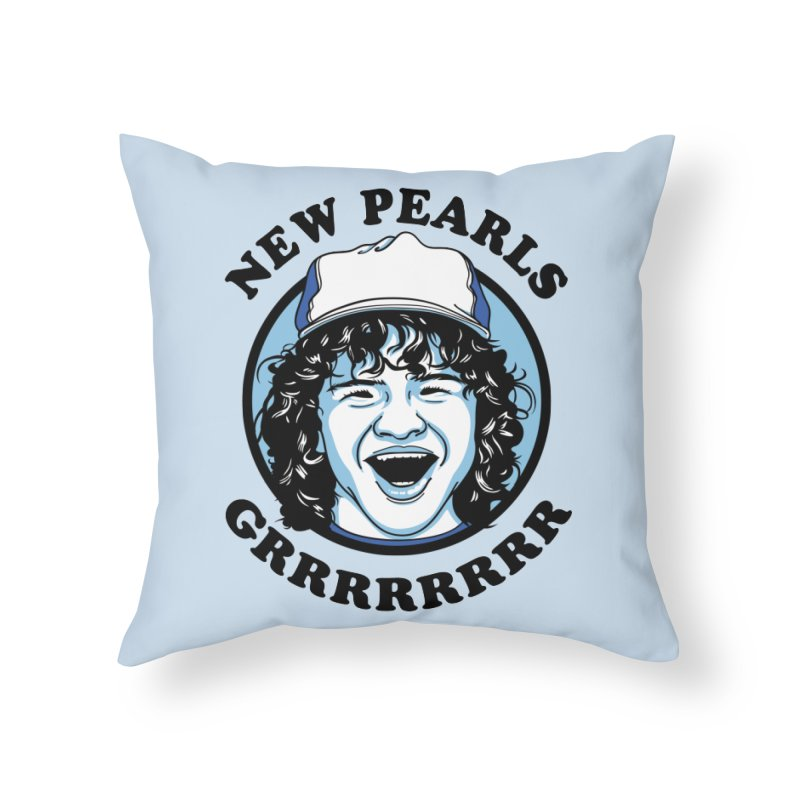 New Pearls Home Throw Pillow by Olipop Art & Design Shop