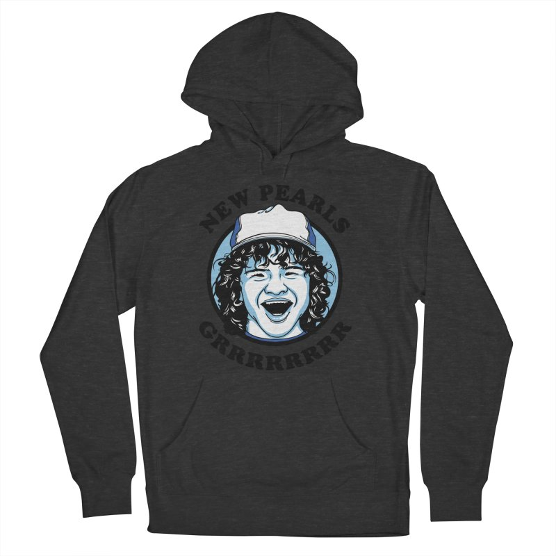 New Pearls Men's French Terry Pullover Hoody by Olipop Art & Design Shop