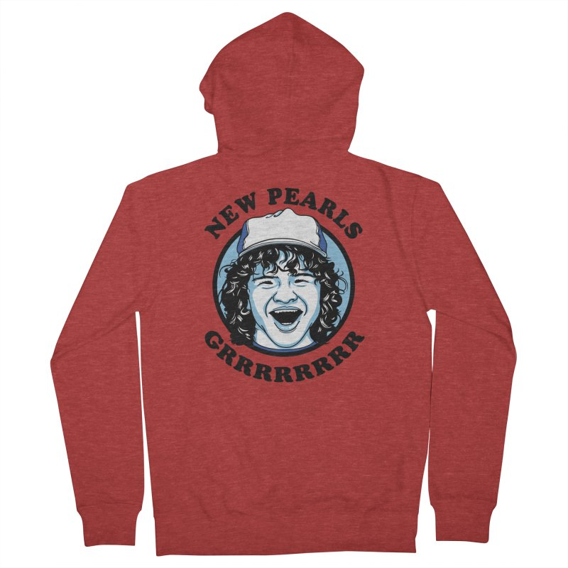 New Pearls Men's French Terry Zip-Up Hoody by Olipop Art & Design Shop