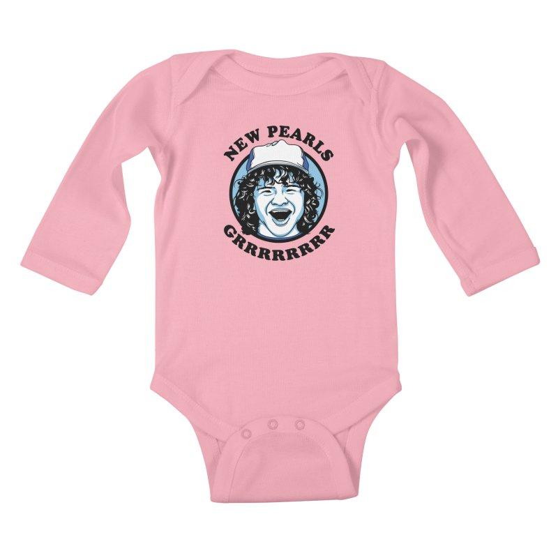 New Pearls Kids Baby Longsleeve Bodysuit by Olipop Art & Design Shop
