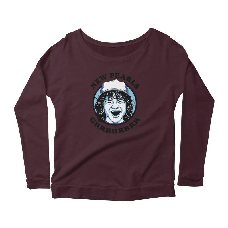 New Pearls Women's Scoop Neck Longsleeve T-Shirt by Olipop Art & Design Shop