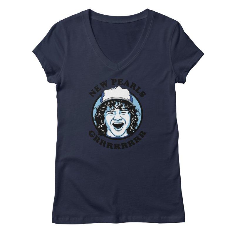 New Pearls Women's Regular V-Neck by Olipop Art & Design Shop