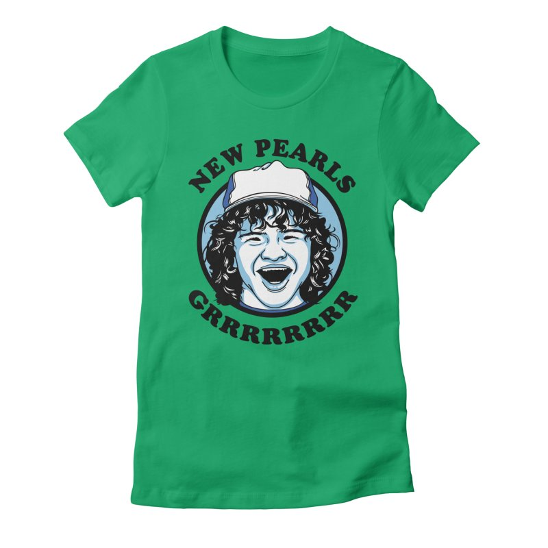 New Pearls Women's Fitted T-Shirt by Olipop Art & Design Shop