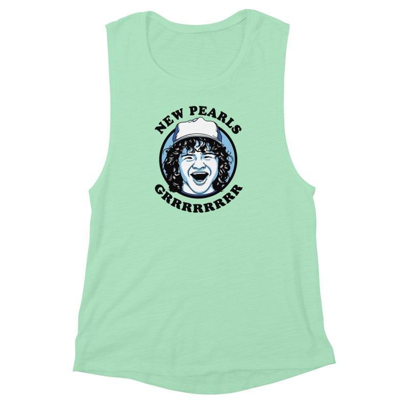 New Pearls Women's Muscle Tank by Olipop Art & Design Shop