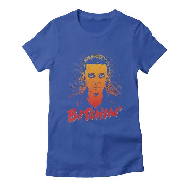 Bitchin' Women's Fitted T-Shirt by Olipop Art & Design Shop