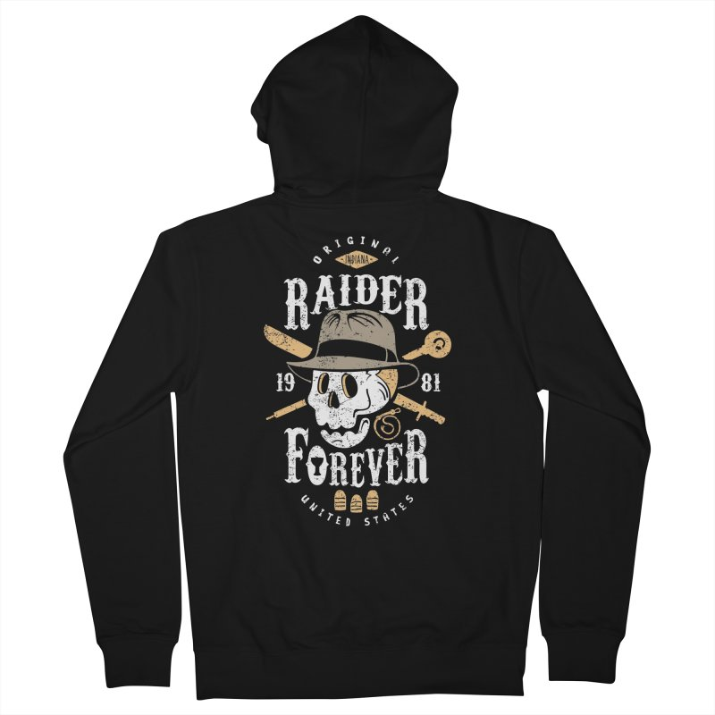 Raider Forever Men's French Terry Zip-Up Hoody by Olipop Art & Design Shop