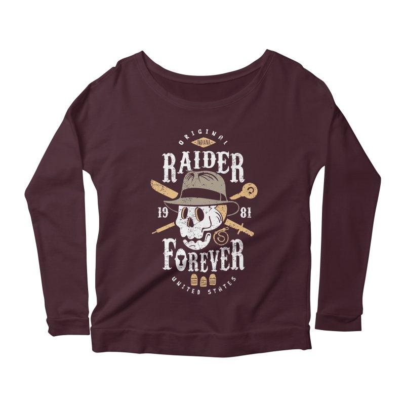 Raider Forever Women's Longsleeve Scoopneck  by Olipop Art & Design Shop