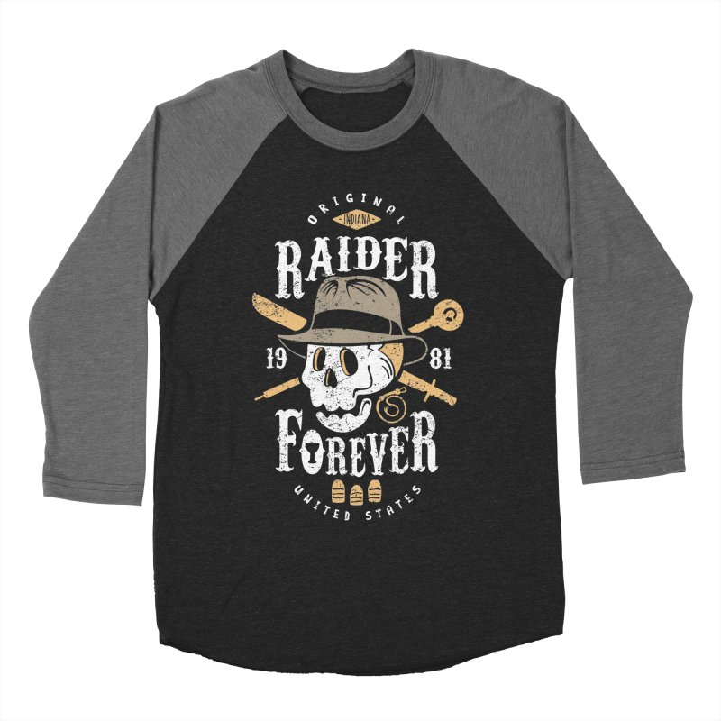 Raider Forever Men's Baseball Triblend T-Shirt by Olipop Art & Design Shop