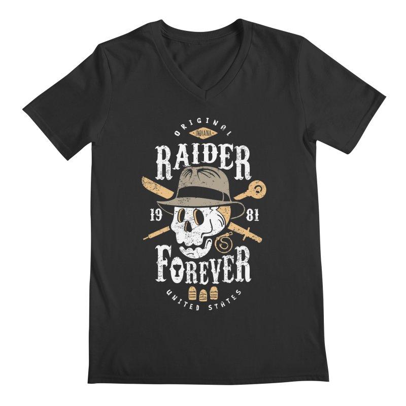 Raider Forever Men's V-Neck by Olipop Art & Design Shop