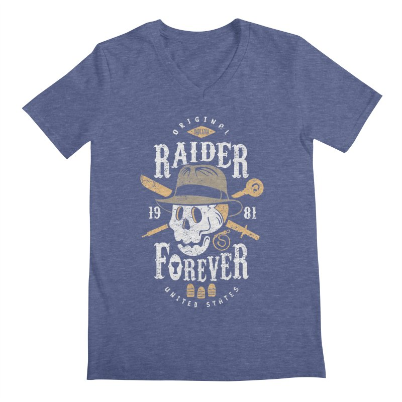 Raider Forever Men's Regular V-Neck by Olipop Art & Design Shop