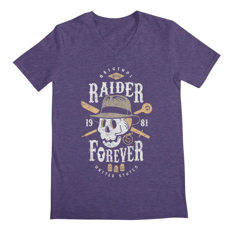 Raider Forever Men's Regular V-Neck by Olipop Art & Design Shop