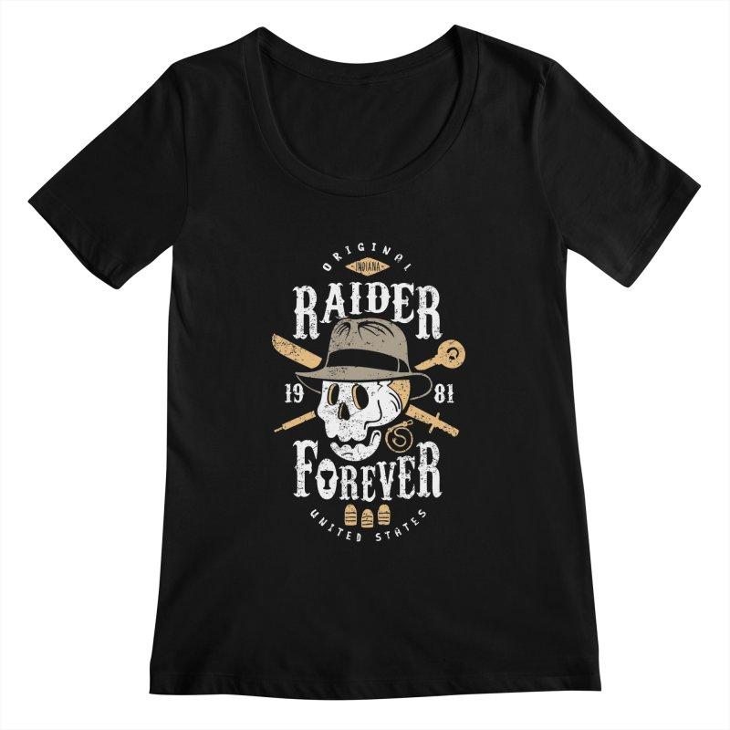 Raider Forever Women's Scoopneck by Olipop Art & Design Shop