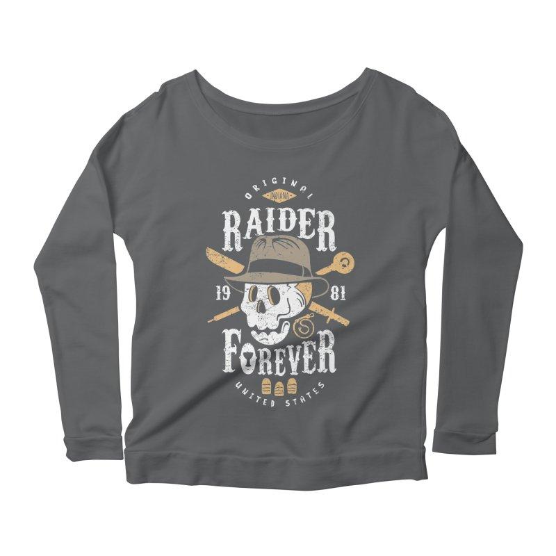 Raider Forever Women's Scoop Neck Longsleeve T-Shirt by Olipop Art & Design Shop