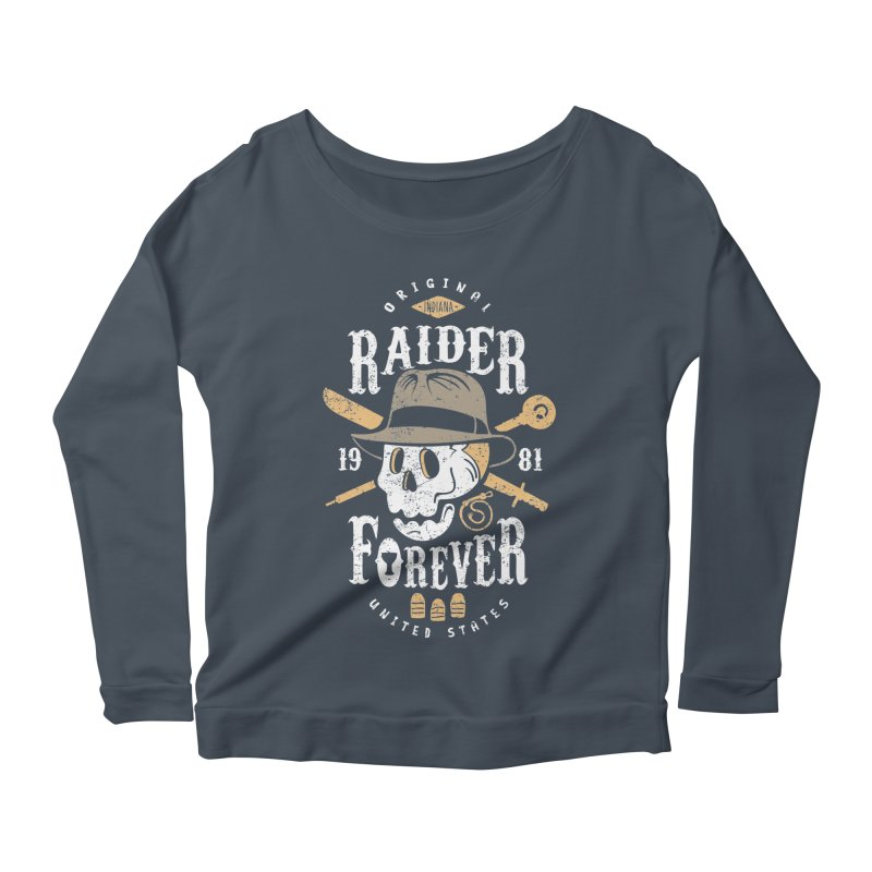 Raider Forever Women's Scoop Neck Longsleeve T-Shirt by Olipop Art & Design Shop