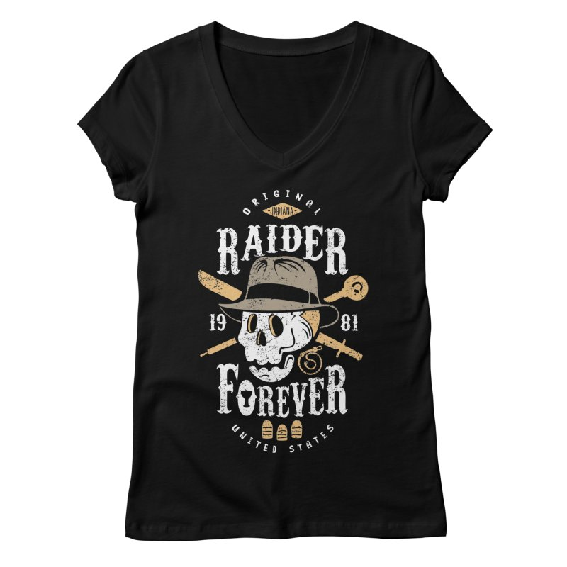 Raider Forever Women's Regular V-Neck by Olipop Art & Design Shop