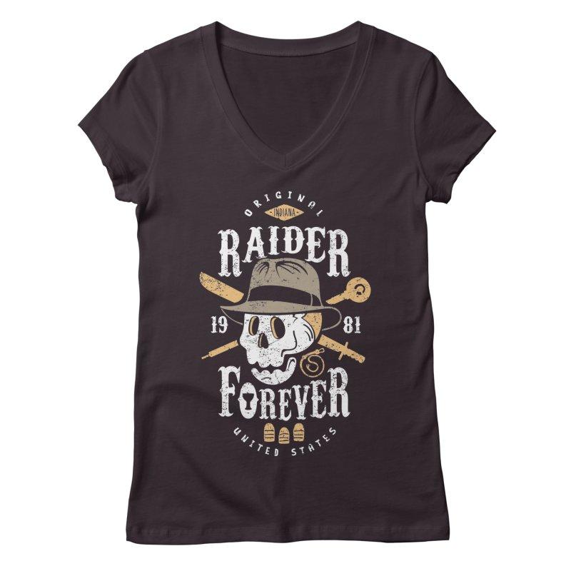 Raider Forever Women's Regular V-Neck by Olipop Art & Design Shop