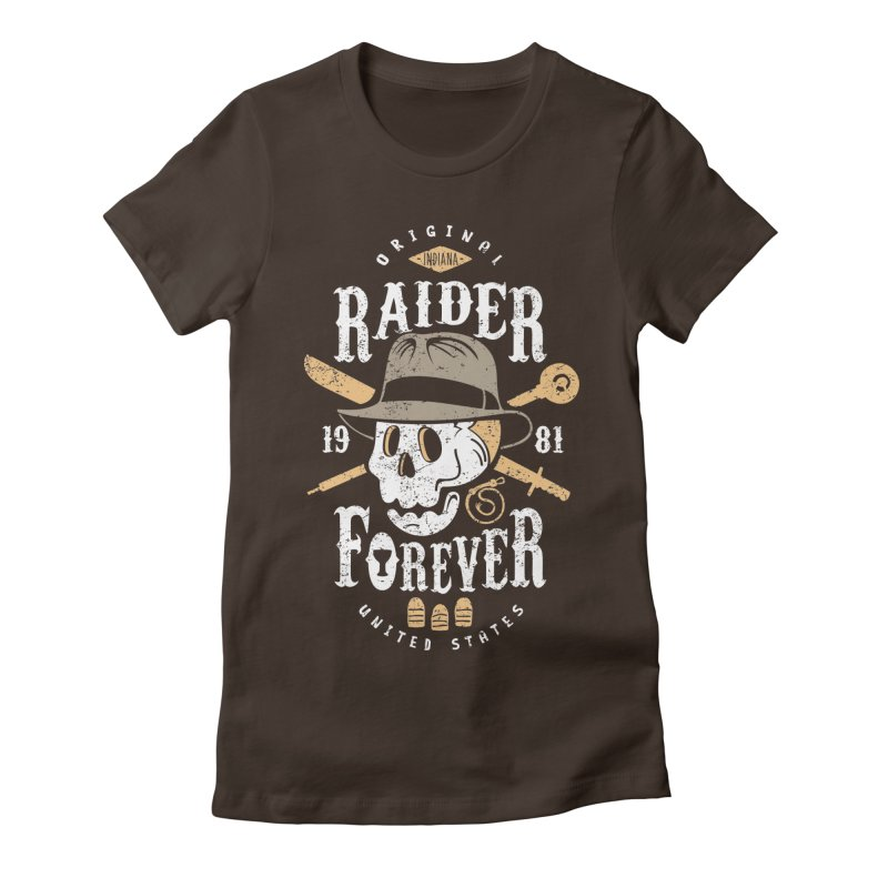 Raider Forever Women's Fitted T-Shirt by Olipop Art & Design Shop