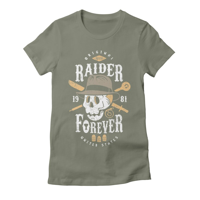 Raider Forever Women's Fitted T-Shirt by Olipop Art & Design Shop