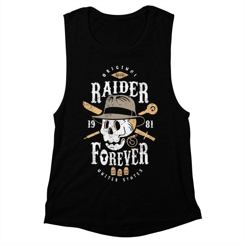 Raider Forever Women's Muscle Tank by Olipop Art & Design Shop