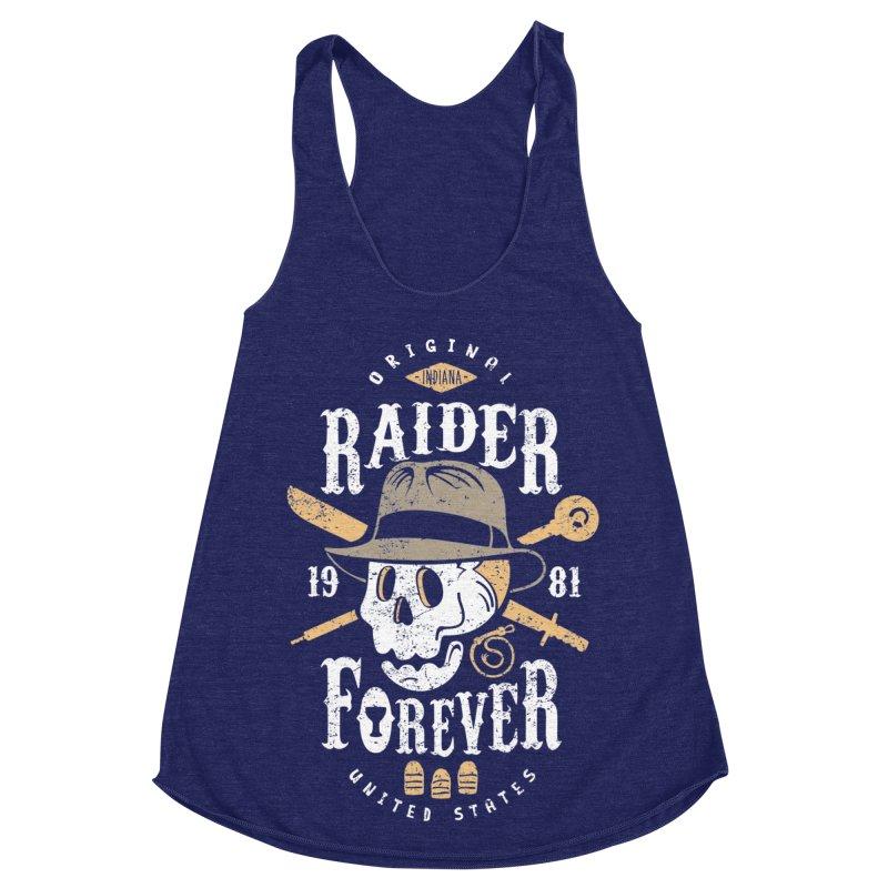 Raider Forever Women's Racerback Triblend Tank by Olipop Art & Design Shop
