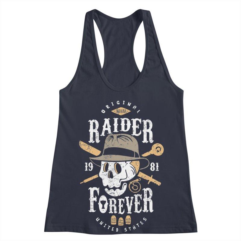 Raider Forever Women's Racerback Tank by Olipop Art & Design Shop