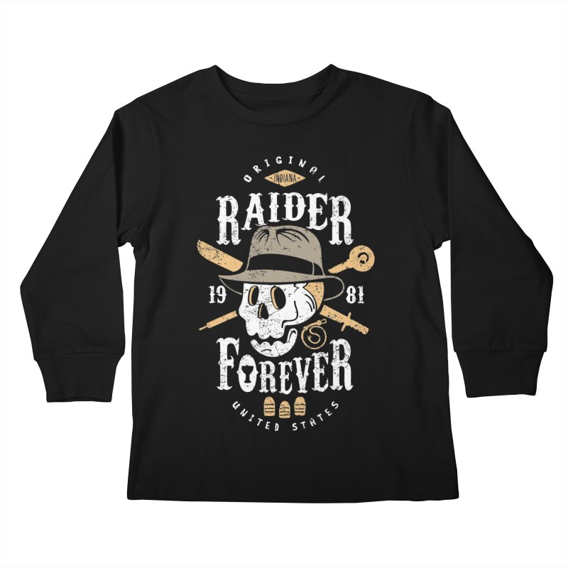 Raider Forever Kids Longsleeve T-Shirt by Olipop Art & Design Shop