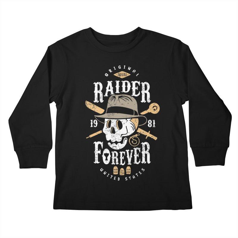 Raider Forever Kids Longsleeve T-Shirt by Olipop Art & Design Shop
