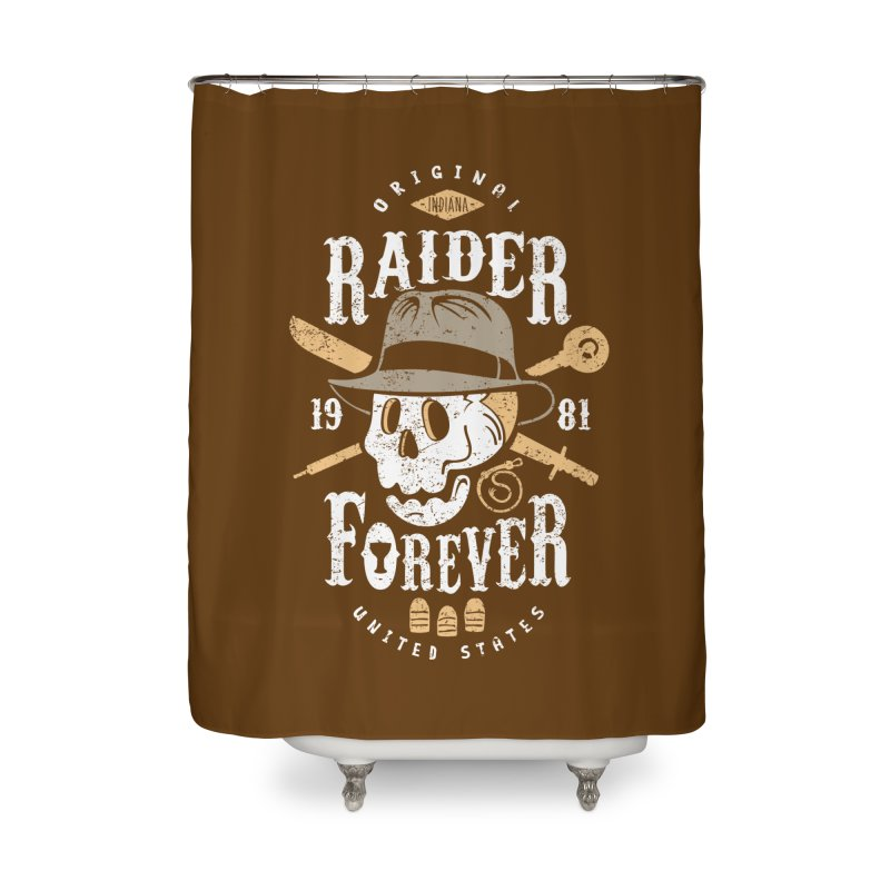 Raider Forever Home Shower Curtain by Olipop Art & Design Shop