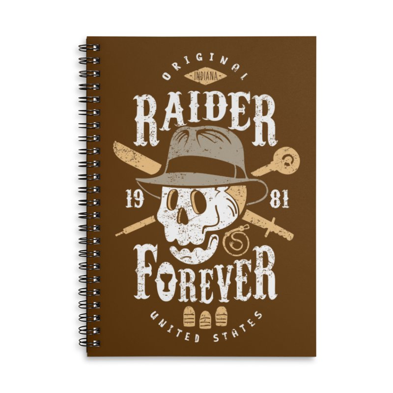 Raider Forever Accessories Lined Spiral Notebook by Olipop Art & Design Shop