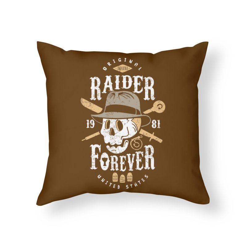 Raider Forever Home Throw Pillow by Olipop Art & Design Shop