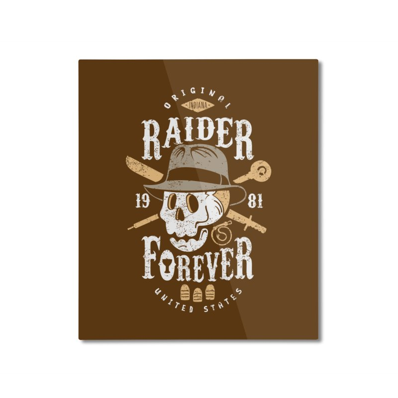 Raider Forever Home Mounted Aluminum Print by Olipop Art & Design Shop