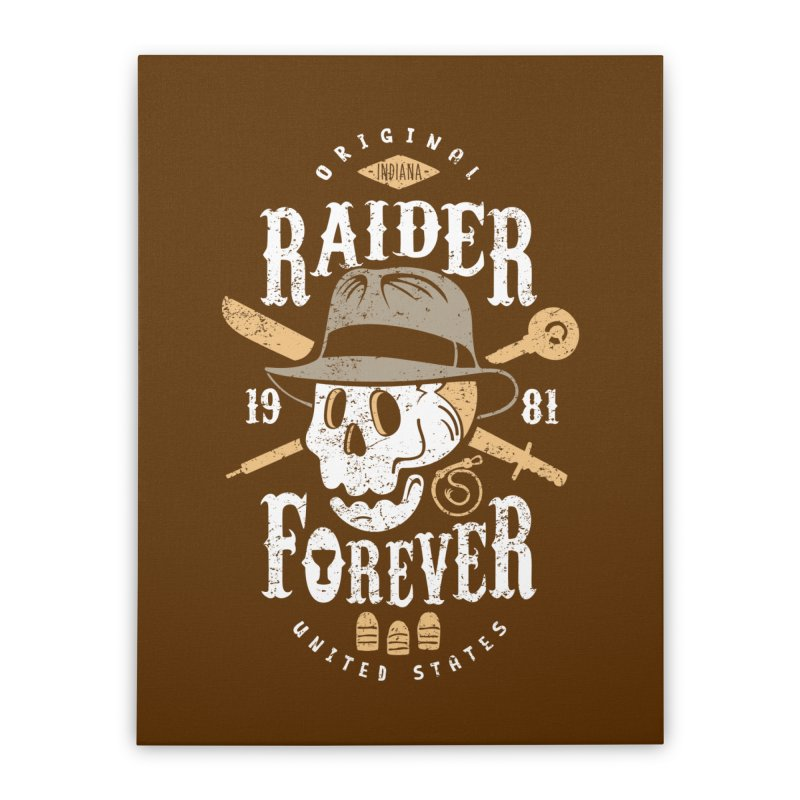 Raider Forever Home Stretched Canvas by Olipop Art & Design Shop