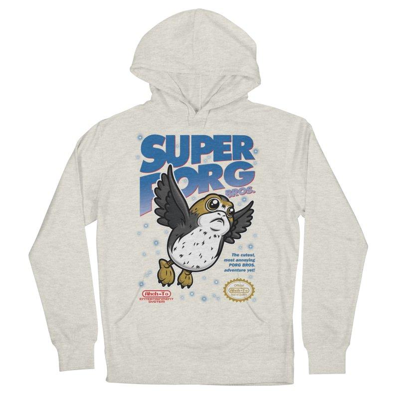 Super Porg Bros Men's French Terry Pullover Hoody by Olipop Art & Design Shop